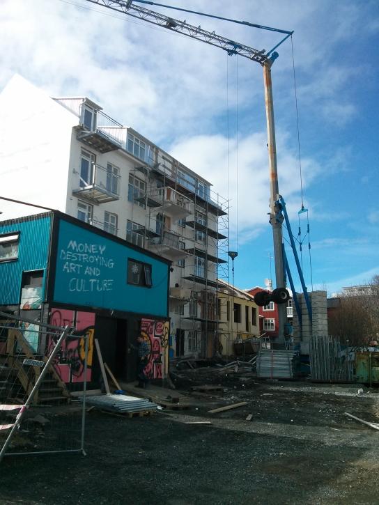 Protest about the urbanisation of central Reykjavik