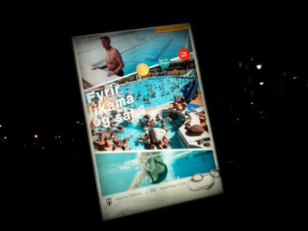 Swimming pool sign, Reykjavik