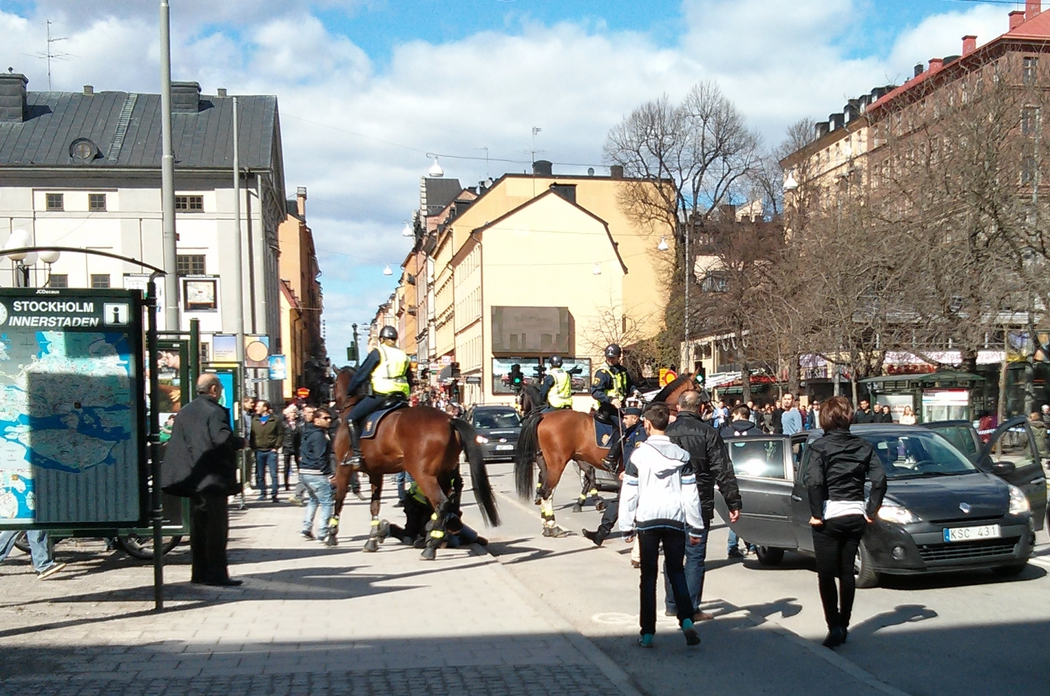 Protest at Medborgarplatsen