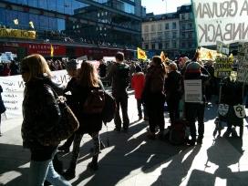 Protest at Sergels Torg, Stockholm