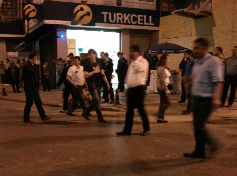 Early evening disturbance in Istanbul
