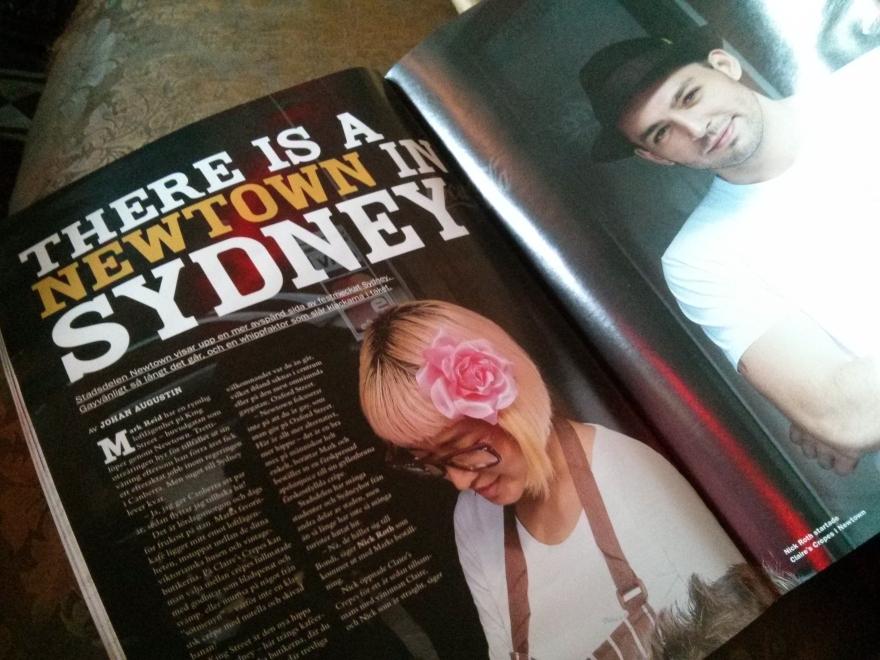 QX Magazine profile on Newtown in Sydney
