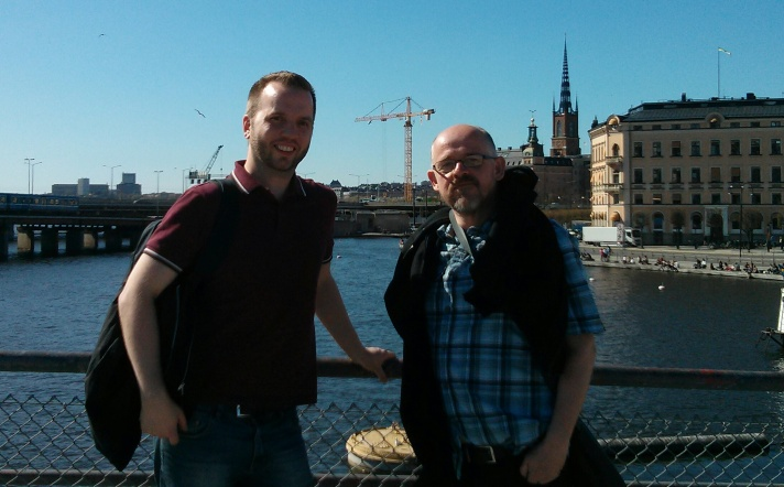 Hanging with Gustav in Stockholm