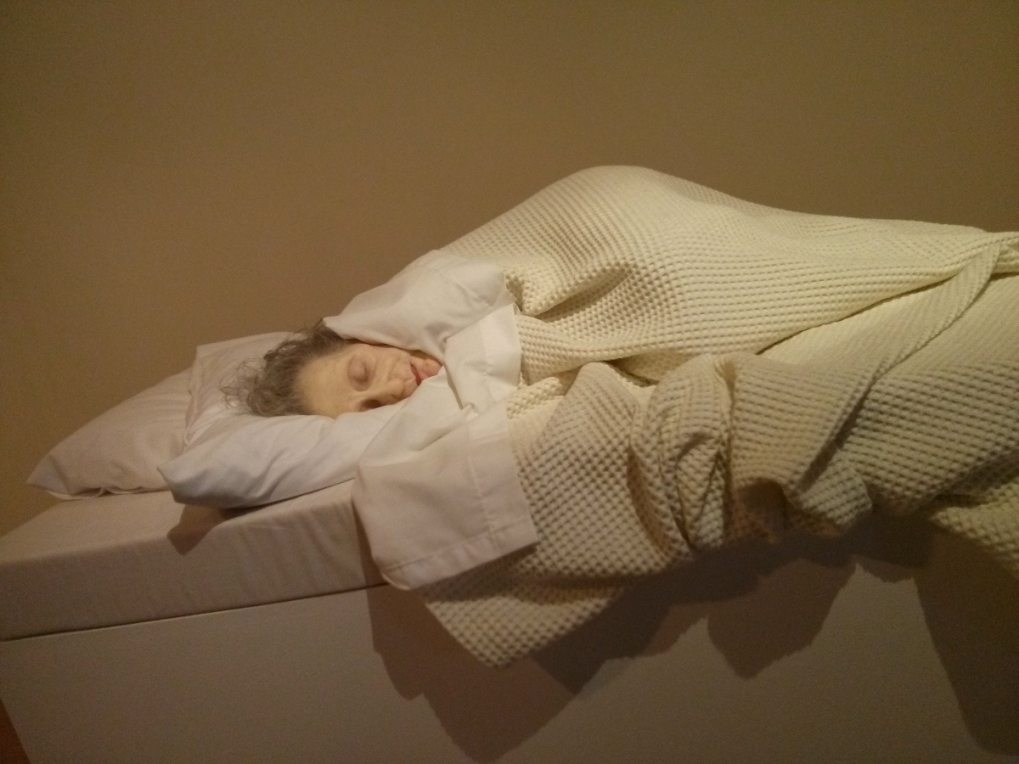 Ron Mueck - untitled (old woman in bed) 2000-2002 at AGNSW