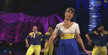 Petra Mede hosts Eurovision