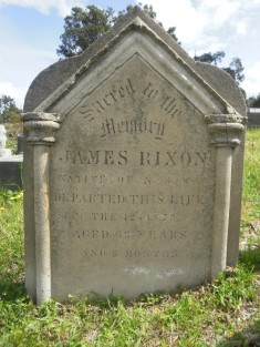 James Rixon grave at Bega Cemetery