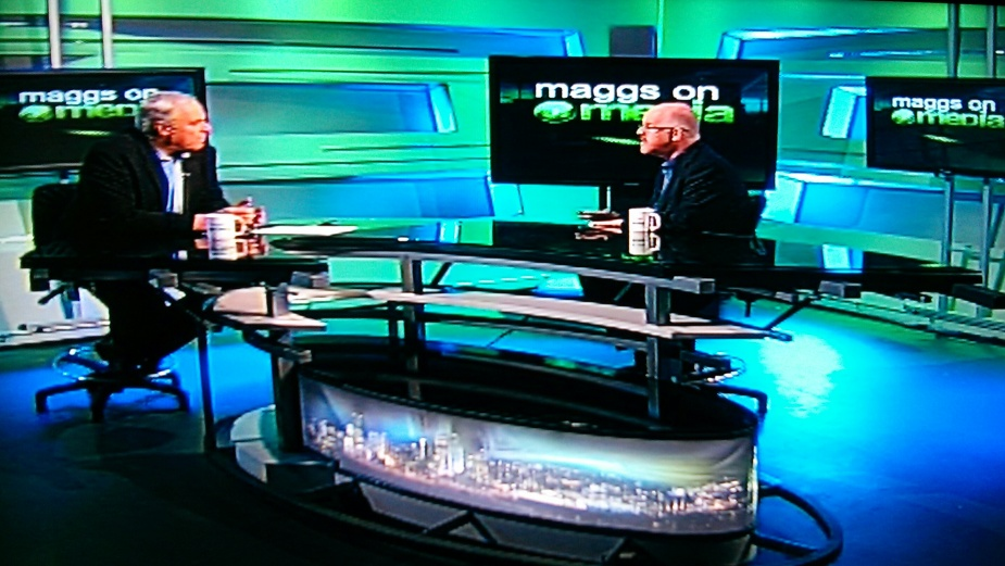 "Later in the morning I was interviewed on the ""Maggs On Media"" program shown on commercial television in South Africa."