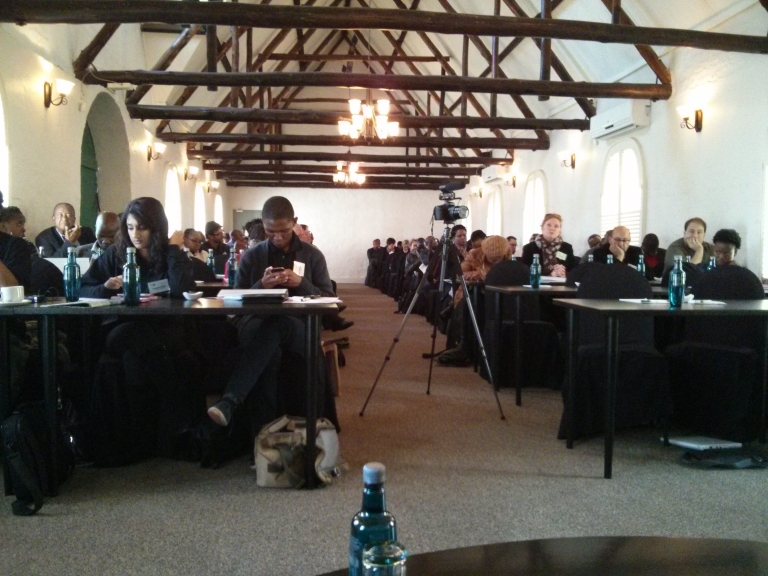 The audience watches the opening session at Radio Days Joburg 2013