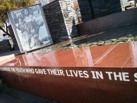 Visiting Soweto - Memorial
