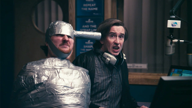 Alan Partridge in the studio