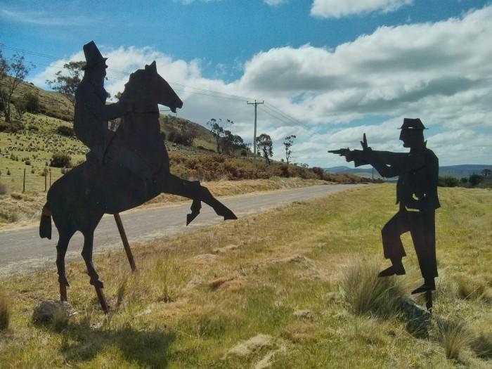Public art on the road between Hobart and Launceston