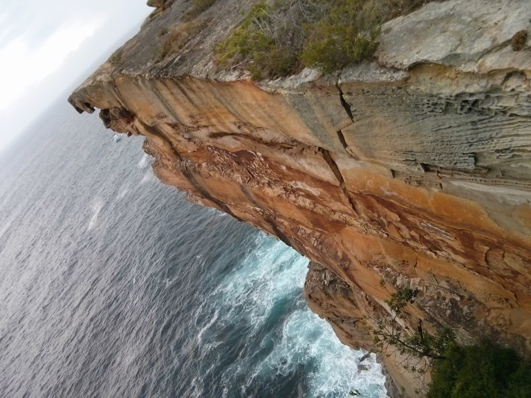The view from The Gap in Sydney