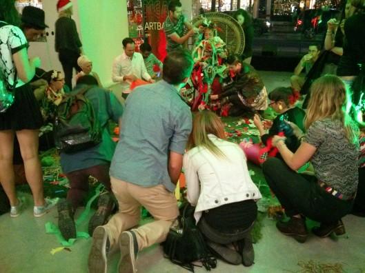 MCA Christmas Party Art Bar with Tony Albert - Human Christmas Tree, Caroline Garcia