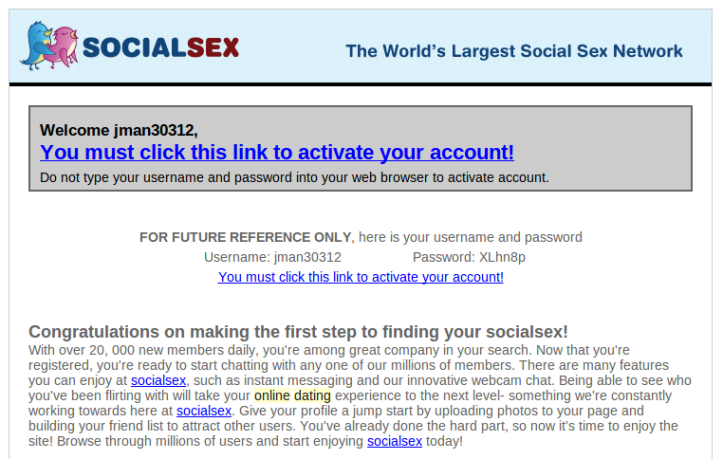Social Sex Website