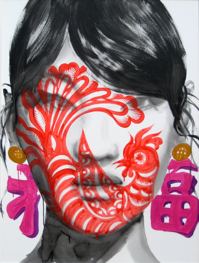 Song Ling, Blessing, 2013, acrylic on canvas, 140 x 110cm