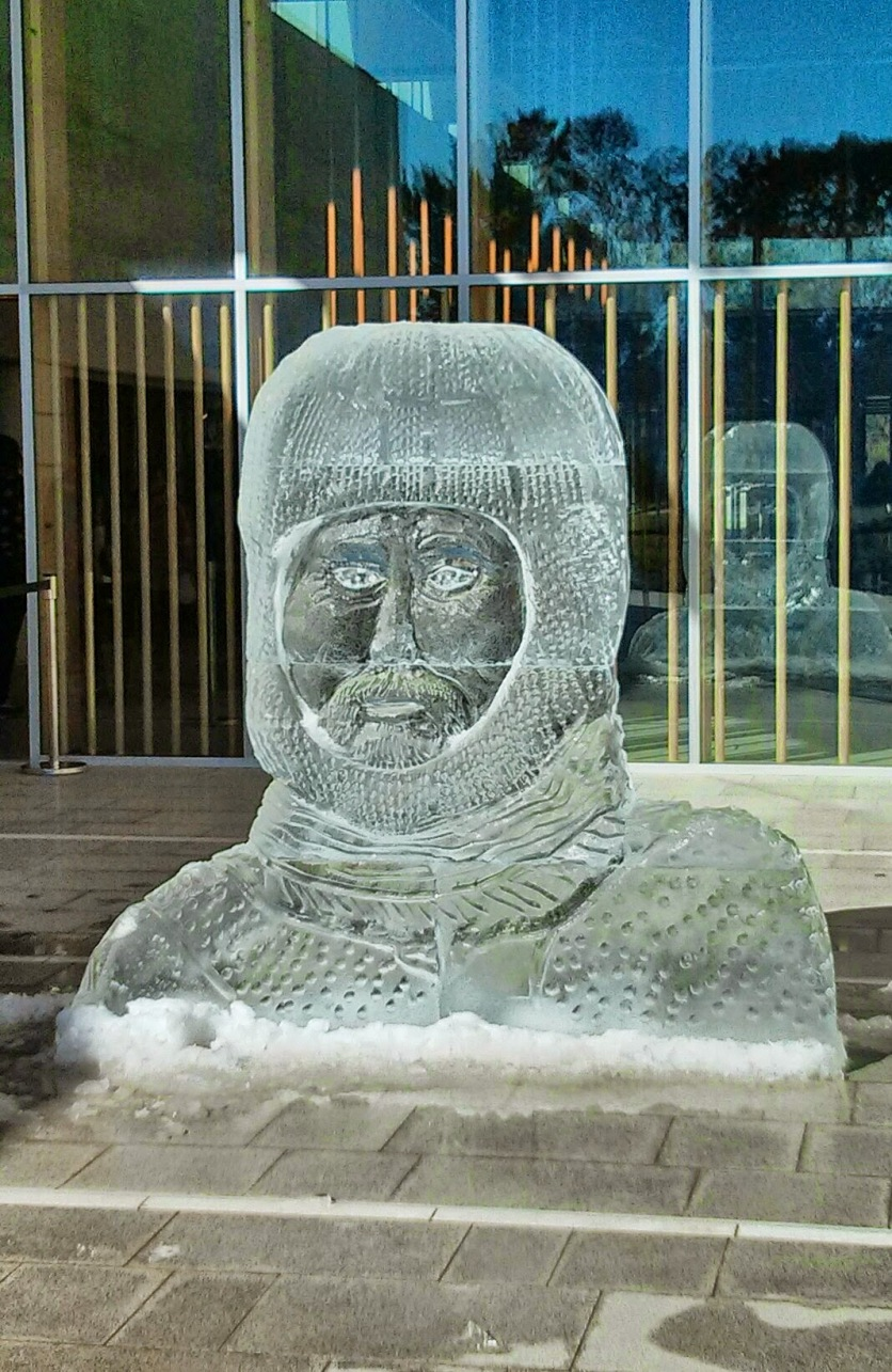 Mawson Ice Sculpture at National Portrait Gallery