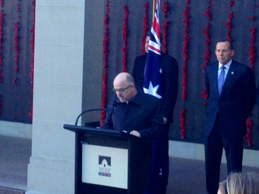 Roll Of Honour Launch with the Prime Minister behind me