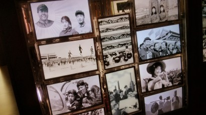 The Remnants of Images (2013), by Hu Jieming, ordinary-looking archival cabinets containing softly animated historical and contemporary photographs