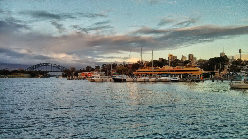 The view from Balmain Wharf