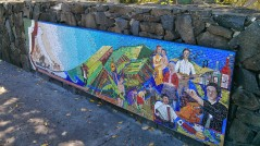 Italian settlement mural at Lismore