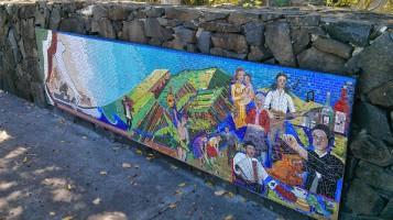 Italian settlement mural at Lismore