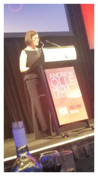 Kate McClymont speaks at Olle Lecture