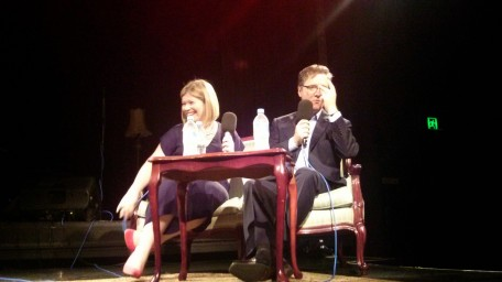 Mel Tait and Richard Fidler at Conversations at Giant Dwarf