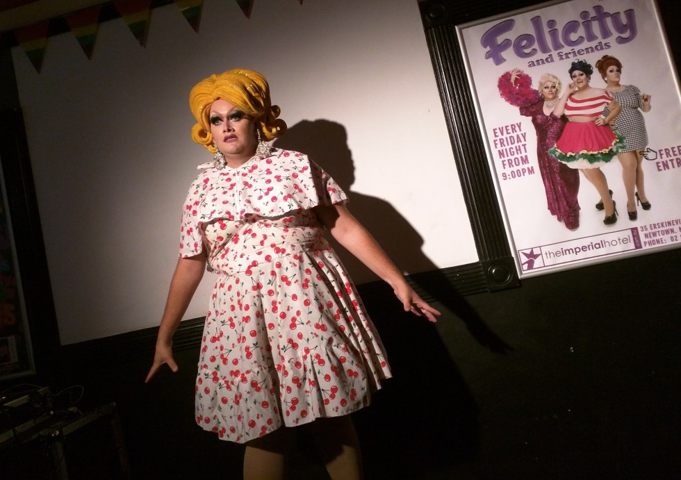 Drag queen, Felicity at The Imperiall Hotel
