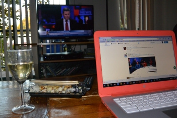 Saturday Night At My Place Ten years ago I was out and about, enjoying Sydney's nightlife, in all its variety. Now it's a glass of wine, takeaway Japanese, a computer and watching #nswvotes