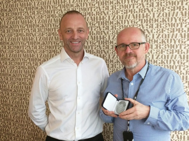 Manager Metropolitan Local Radio, Jeremy Millar and I.
