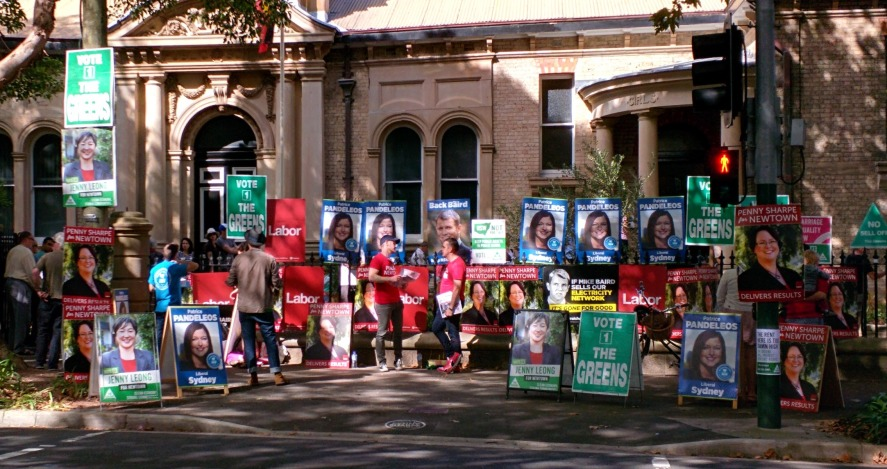 Voting at Bourke Street Primary School