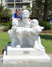Steve Irwin statue at Mooloolaba, Queensland