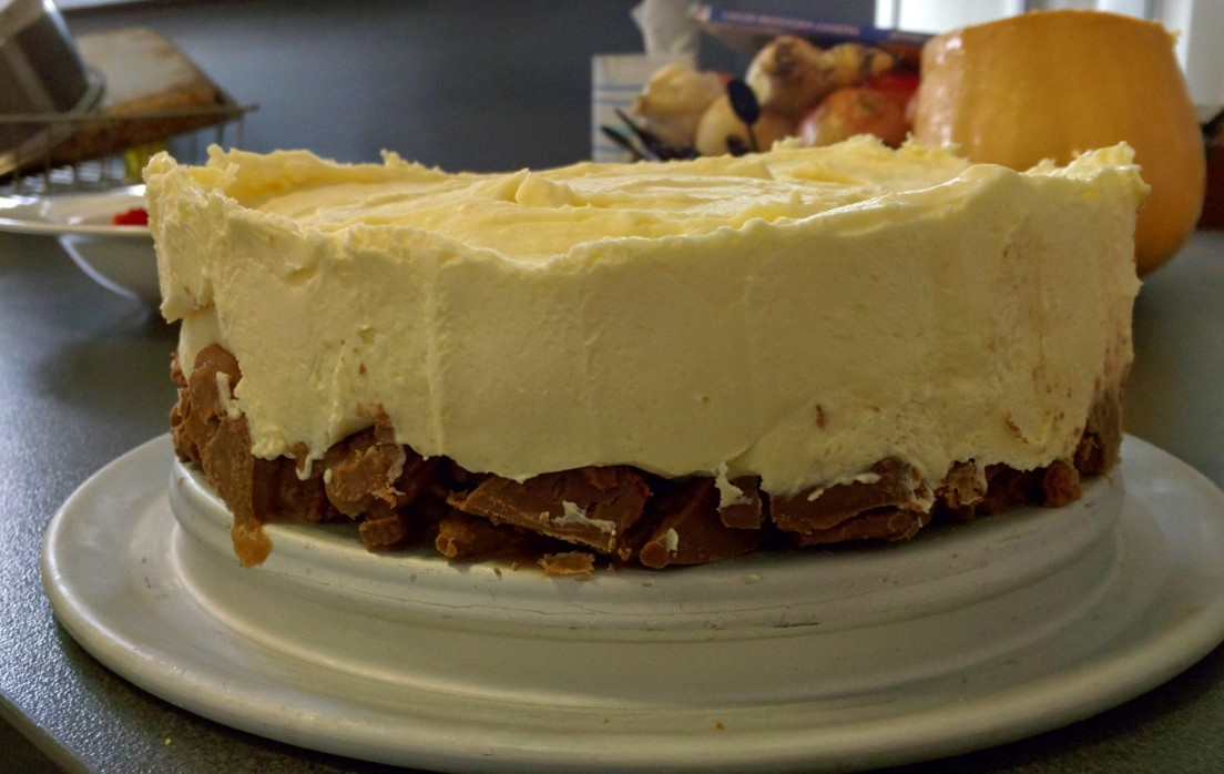 Cheesecake with a Tim-Tam base