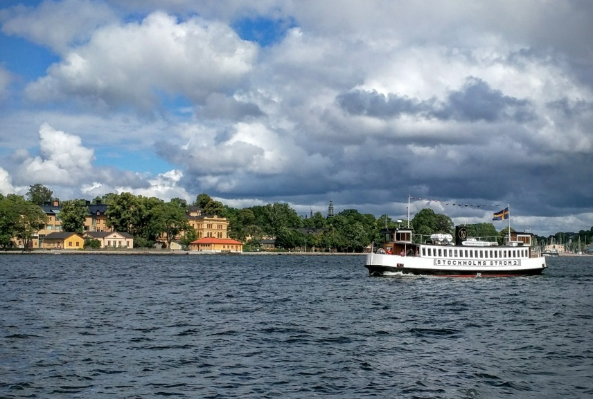 Catching a ferry in Stockholm is truly sublime.