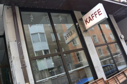 Kaffee, a shop which features in the American movie, though not in the Swedish movies.,