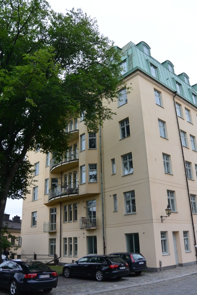 The top two floors of the apartment block where Lisbeth Salander lived, though also not featured in the movies.