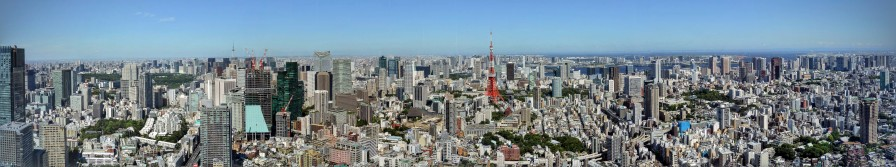 Panoramic view from the Mori Tower, Tokyo