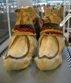Sapmi shoes at the Nordiska Museet, Stockholm