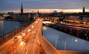 The view at 3.00am from Stockholm's Hilton Hotel
