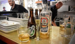 Some beer and some Aquavit at Hav at Hötorgshallen