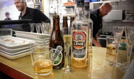 Some beer and some Aquavit at Hav at Hötorgshallen