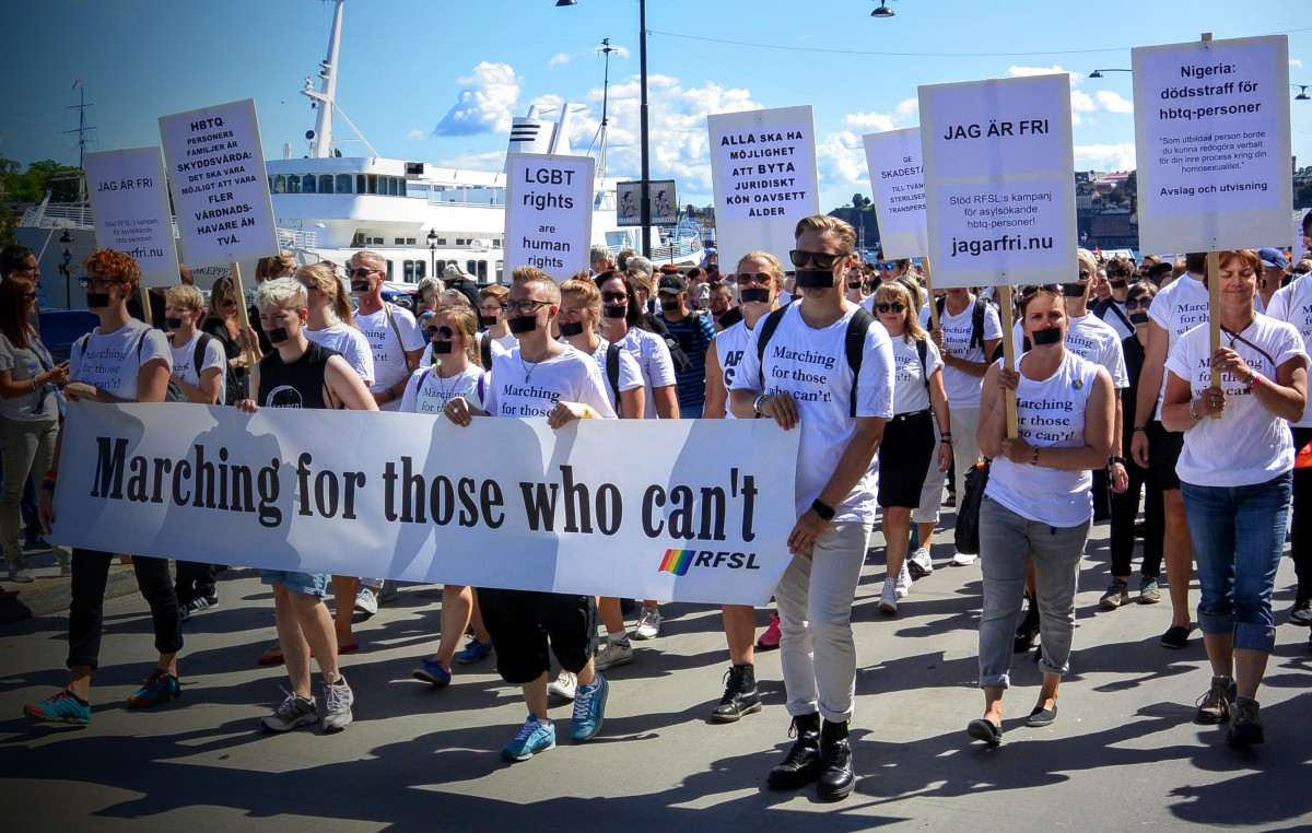 Stockholm Pride - Marching for those who can't which is always my favourite float