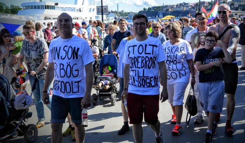 Stockholm Pride - Proud family members (and can I meet your brother?) :):)