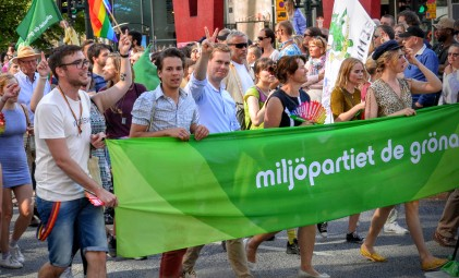 Stockholm Pride - Green Party (including their cute) Leader