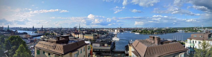 A panoramic view from the seventh floor of Stockholm's Södra Teatern