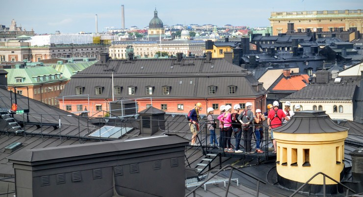 Stockholm, as viewed from the rooftop tour,