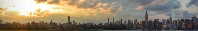 Manhattan sunset, viewed from Brooklyn