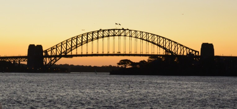 Sydney Harbour Bridge viewed from the Manly Ferry