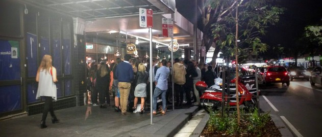 Crown Street Pizza Queue