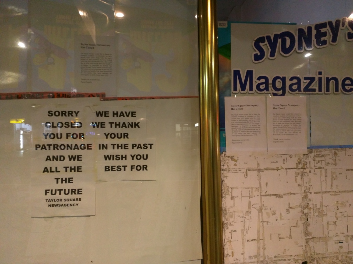 Taylor Square Newsagency